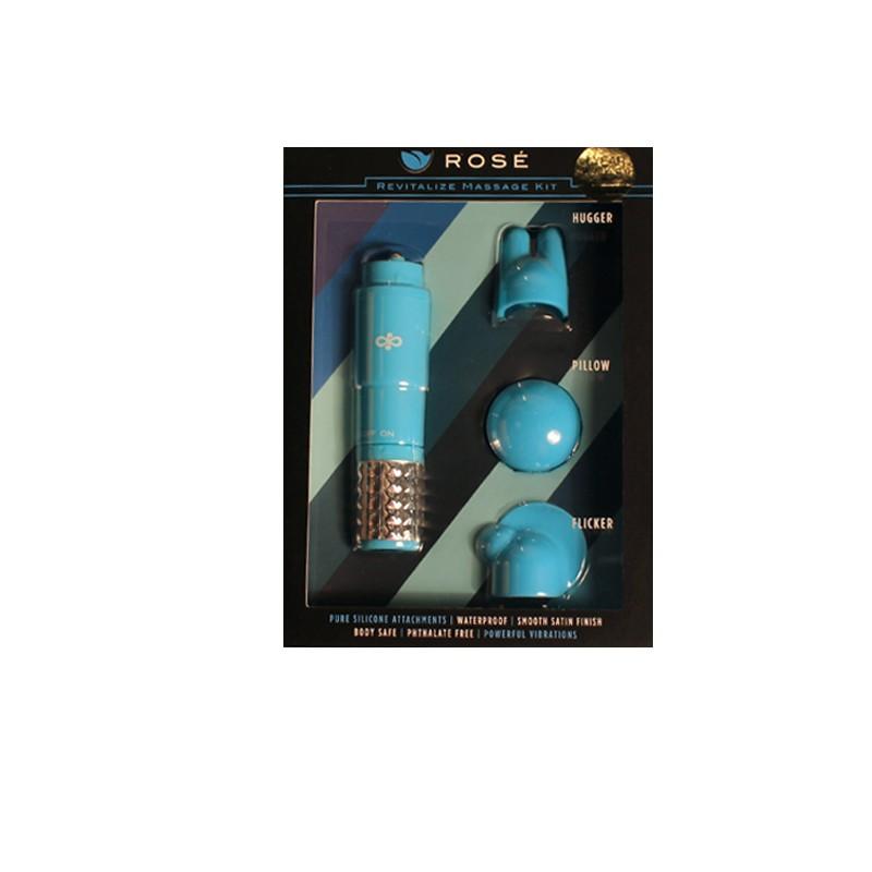 Blush Rose Revitalize Massage/Mini Vibe Kit (Blue)