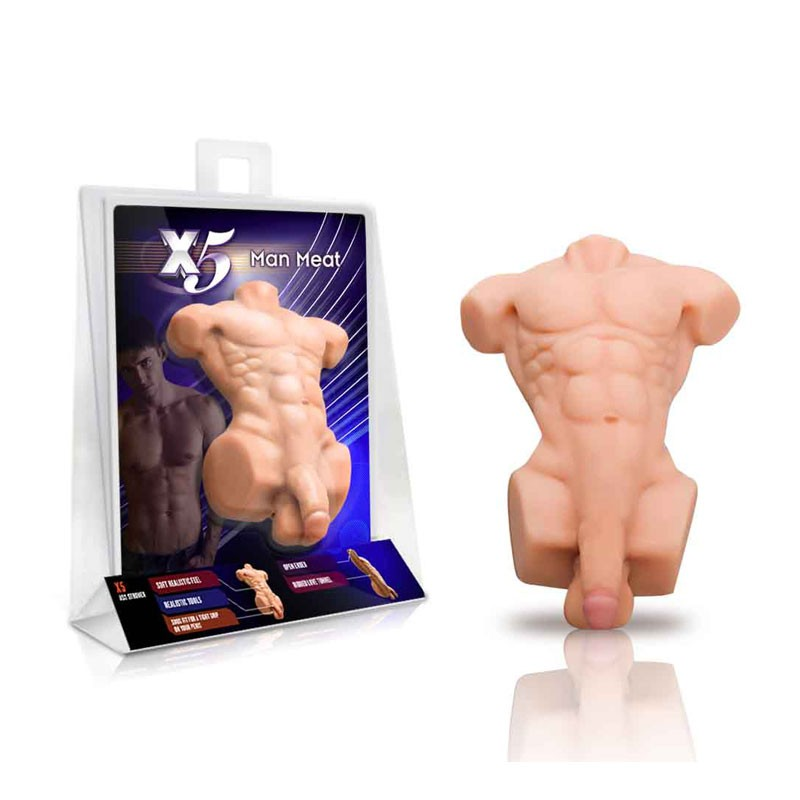 Blush X5 Man Meat Stroker (Beige)