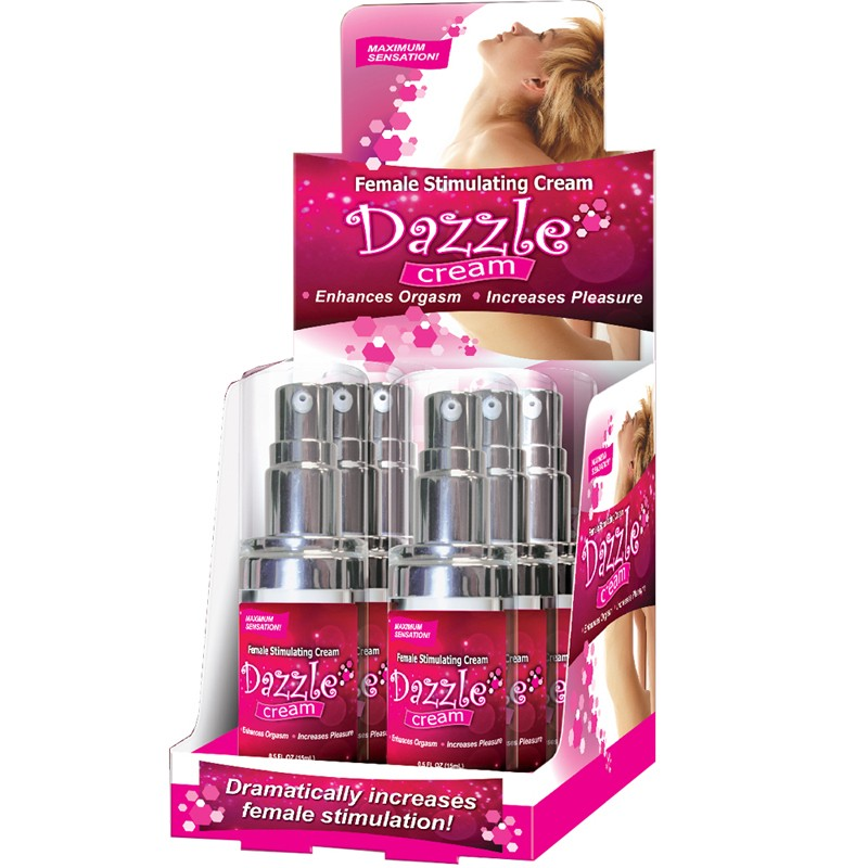 Body Action Dazzle Female Stimulating Cream .5oz 6 per Display