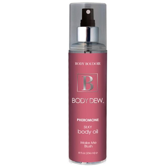 Body Dew, Silky Body Oil w/ Pheromones, Make Me Blush, 8 fl oz, Mist Bottle