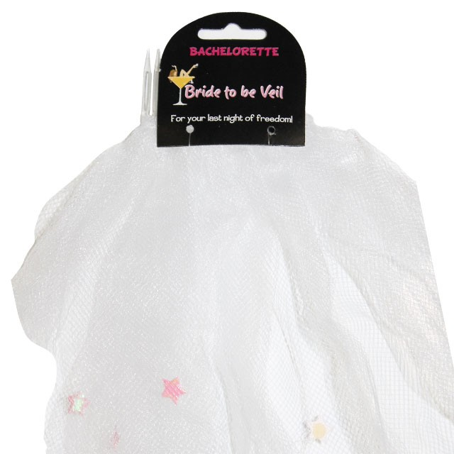 Bride To Be Veil with Decorations (White)