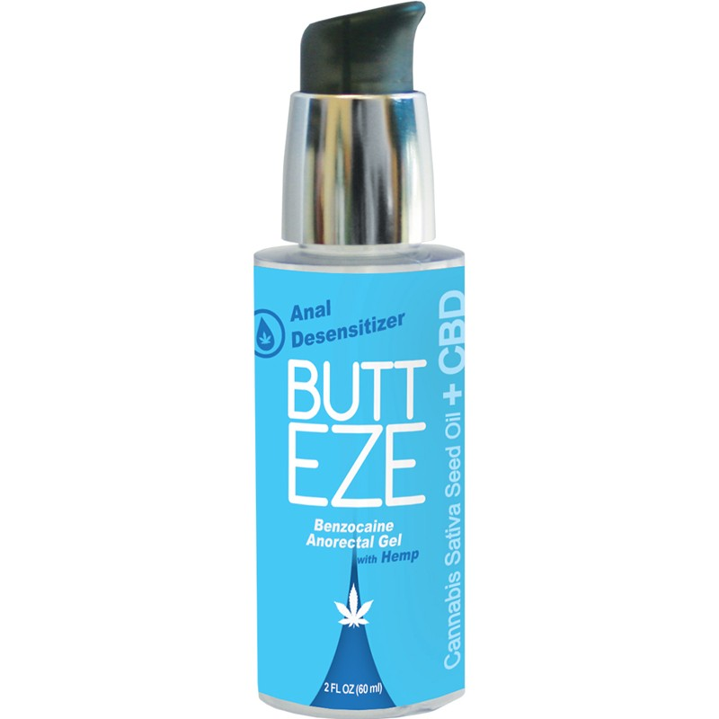 Butt Eze Anal Desensitizing Lubricant with Hemp Seed Oil 2.0 oz bottle