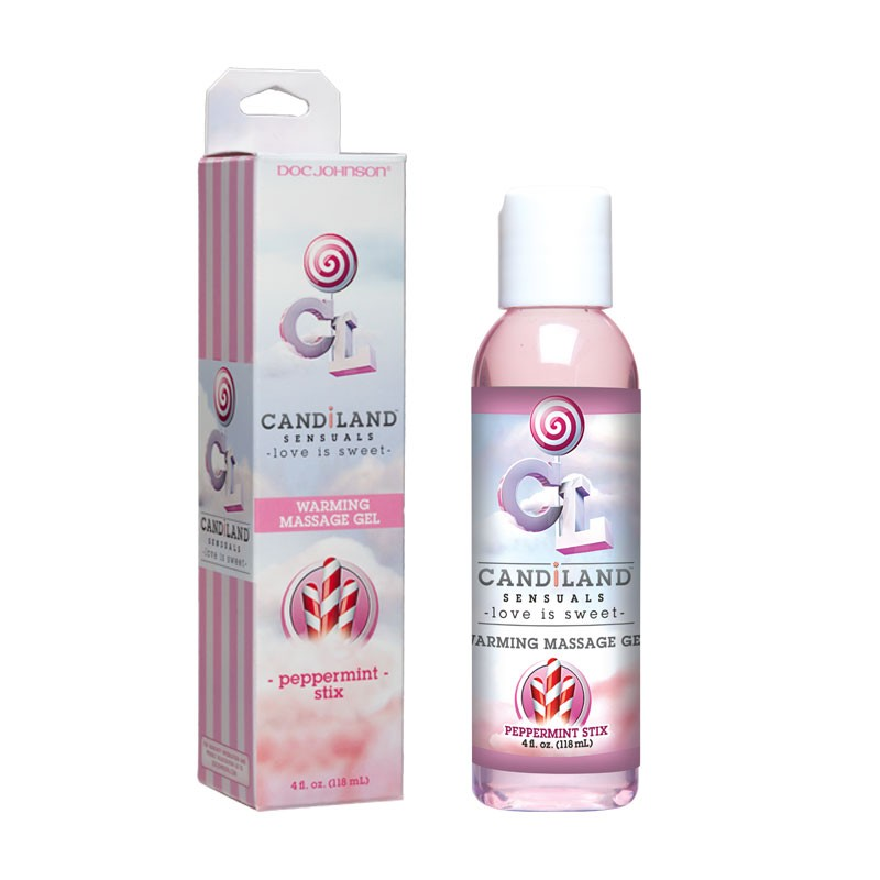 CandiLand Peppermint Stix Warming Massage Oil 4oz