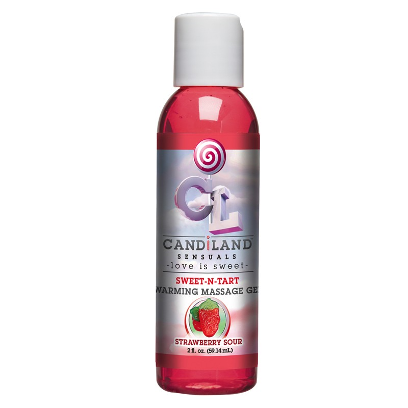 Candiland Sweet-N-Tart Warming Massage Gel Strawberry Sour