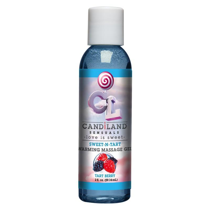 Candiland Sweet-N-Tart Warming Massage Gel Tart Berry