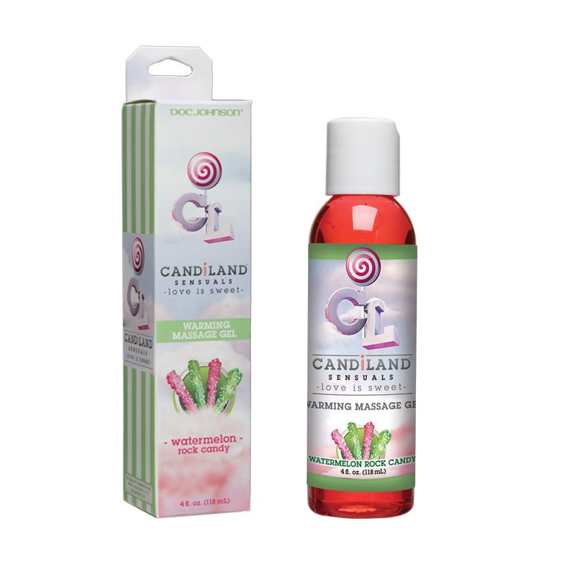 CandiLand Watermelon Rockcandy Warming Massage Gel 4oz