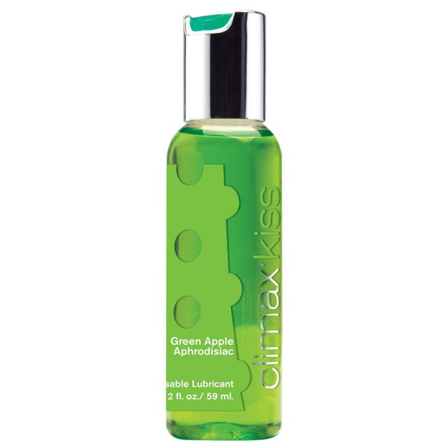 Climax Kiss Green Apple Aphrodisiac Flavored Lubricant 2 fl oz