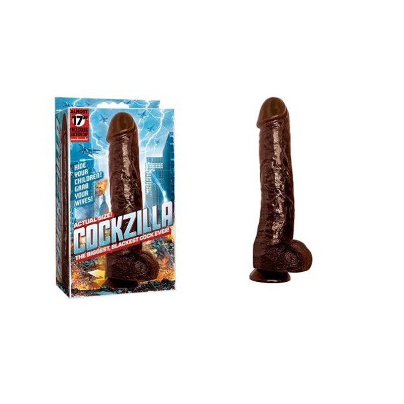Cockzilla 16.5in. Realistic Cock (Black)