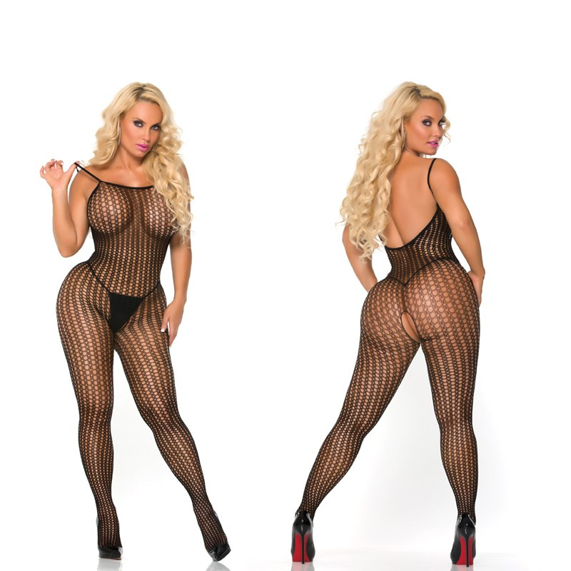 Cocolicious Controlled Chaos Bodystocking Black O/S