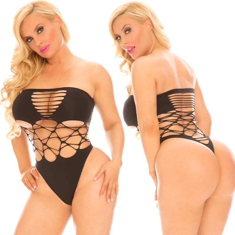 Cocolicious Cross Boss Bodysuit Black One Size