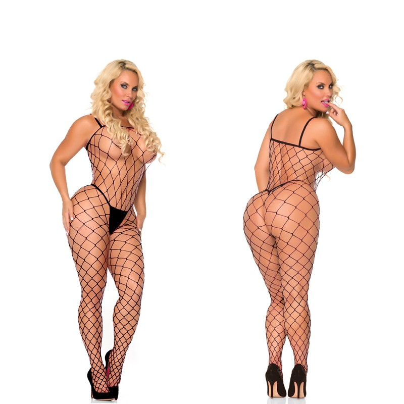 Cocolicious Fenced In Fencenet Bodystocking Black O/S