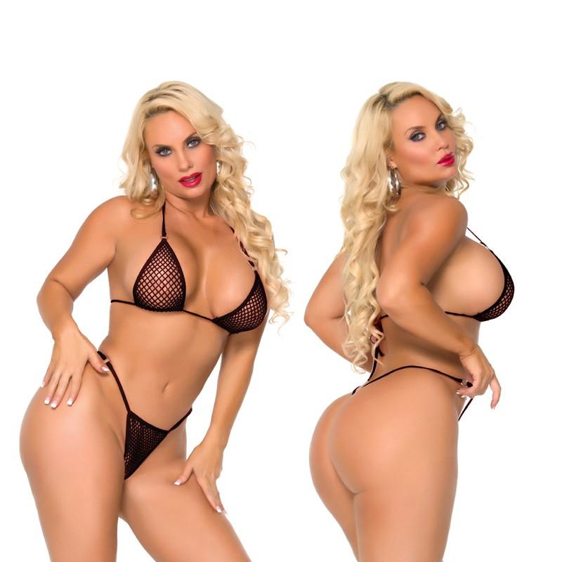 Cocolicious Nice Set Fishnet Bikini Set Black O/S