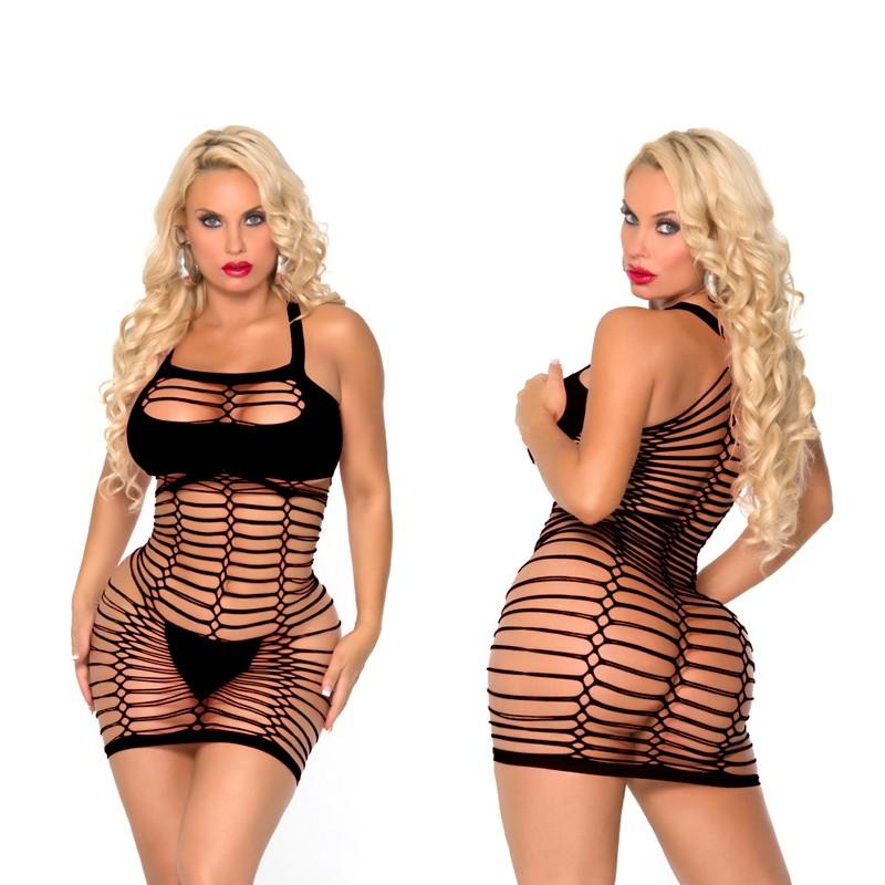 Cocolicious Slash & Burn Seamless Dress Black O/S