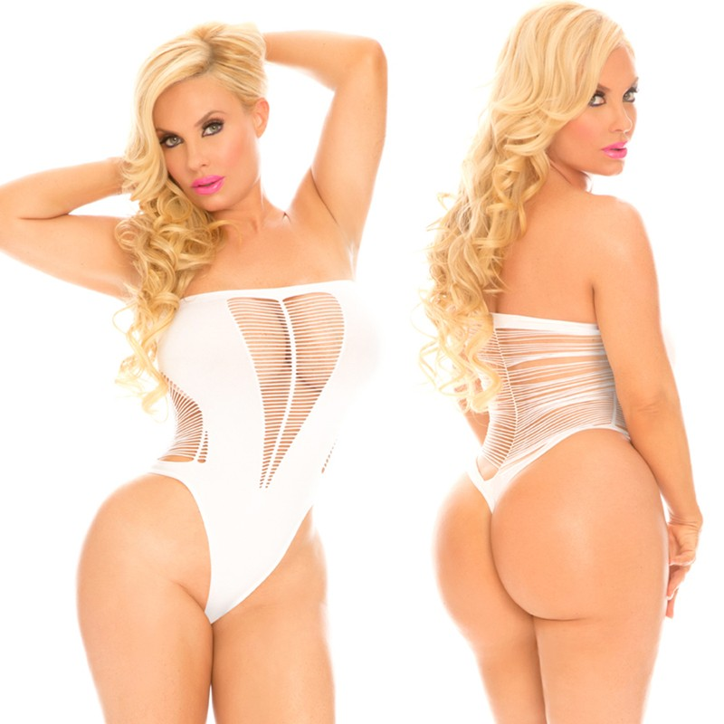 Cocolicious String Me Along Bodysuit White One Size