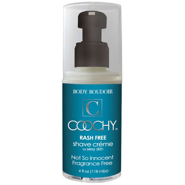Coochy Rash-Free Shave Cream, Not So Innocent Fragrance Free, 4 fl oz, Pump Bottle
