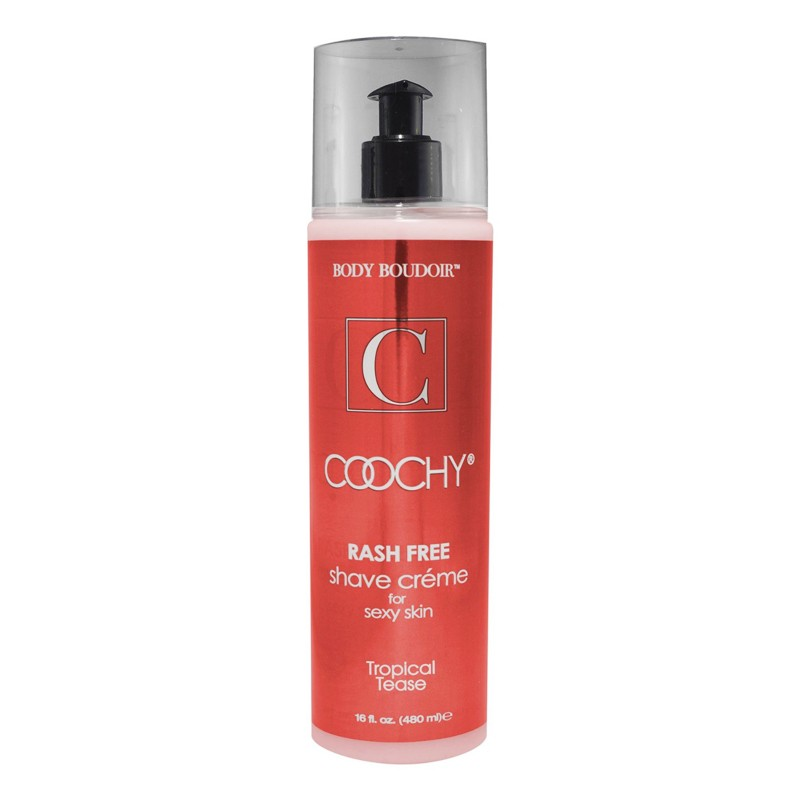 Coochy Rash-Free Shave Cream, Tropical Tease, 16 fl oz, Pump Bottle