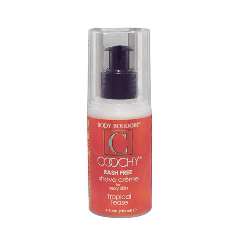 Coochy Rash-Free Shave Cream, Tropical Tease, 4 fl oz, Pump Bottle