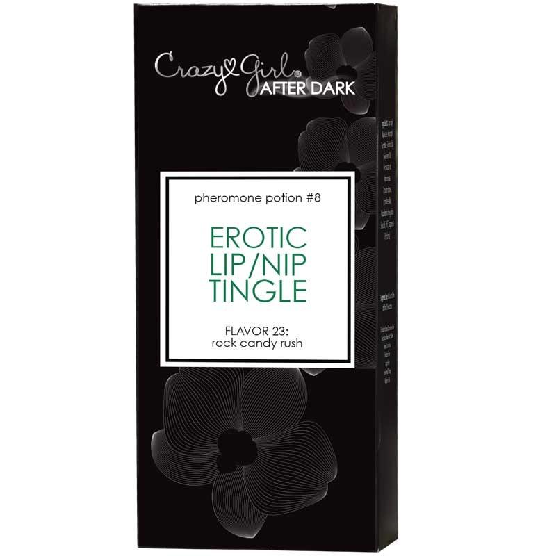 Crazy Girl After Dark, Erotic Lip/Nip Tingle w/ Pheromones, Rock Candy Rush, 8 gram, Applicator Bottle, Boxed