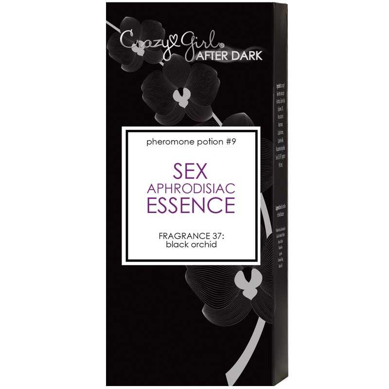 Crazy Girl After Dark, Sex Aphrodisiac Essence w/ Pheromones, Black Orchid, .5ml Roll-On Bottle, Bulk
