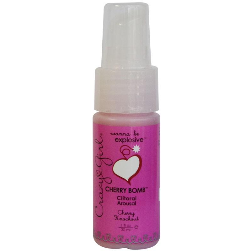 Crazy Girl Cherry Bomb Clitoral Arousal, Cherry Knockout, 1 Fl. Oz., Pump Bottle