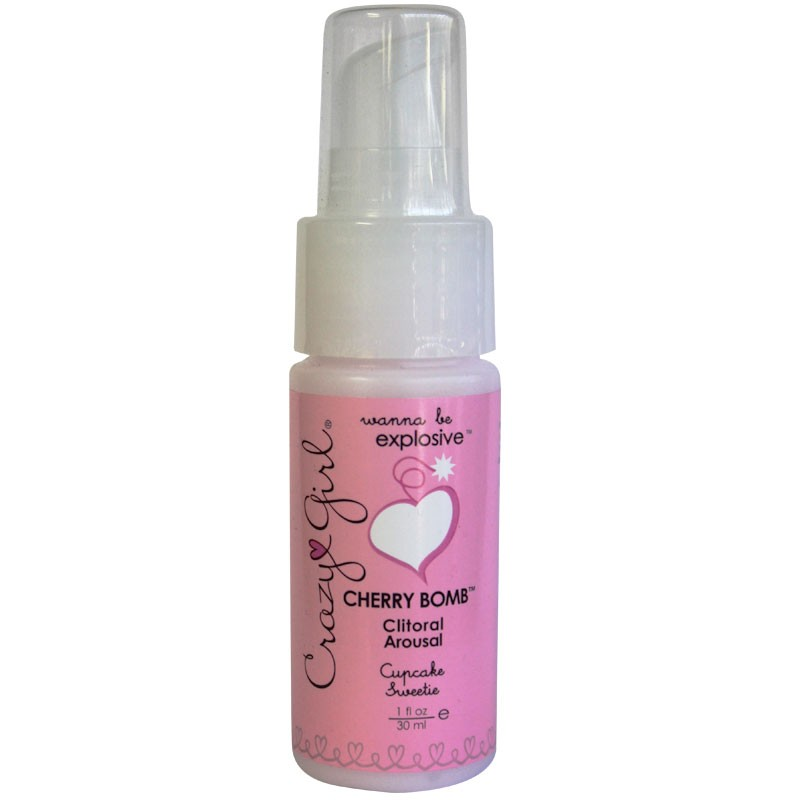 Crazy Girl Cherry Bomb Clitoral Arousal, Cupcake Sweetie, 1 Fl. Oz., Pump Bottle