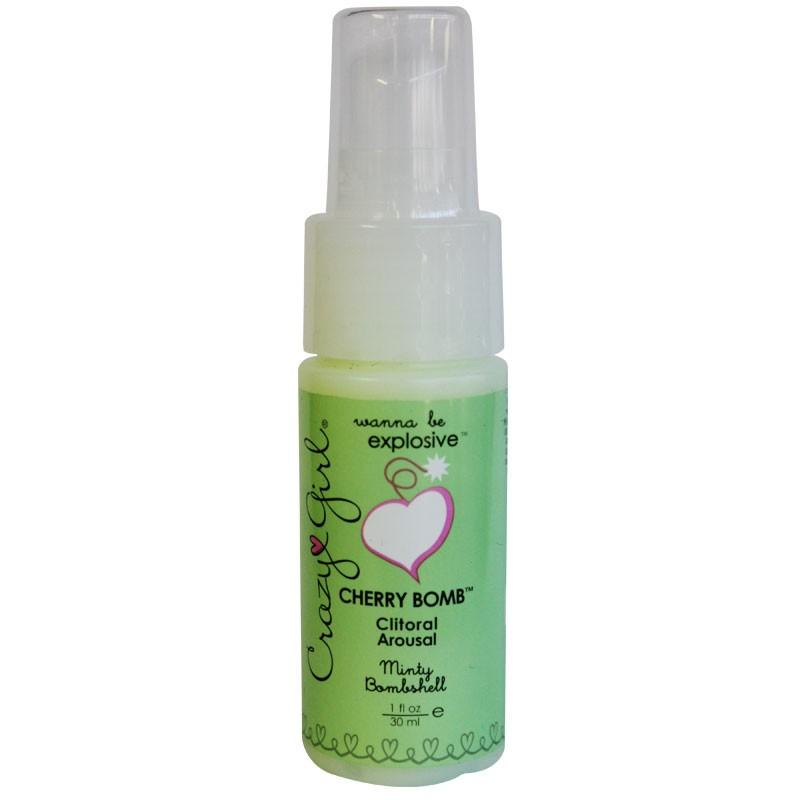 Crazy Girl Cherry Bomb Clitoral Arousal, Minty Bombshell, 1 Fl. Oz., Pump Bottle
