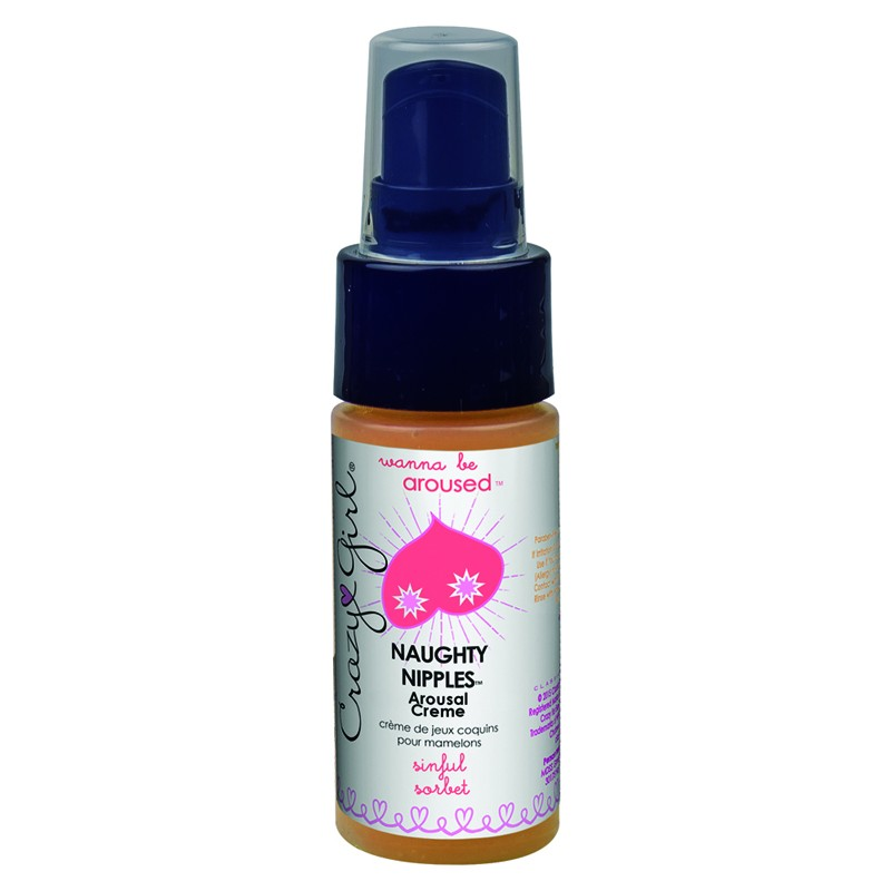 Crazy Girl Wanna Be Aroused, Naughty Nipples Arousal Créme, Sinful Sorbet, 1 Fl. Oz., Pump Bottle