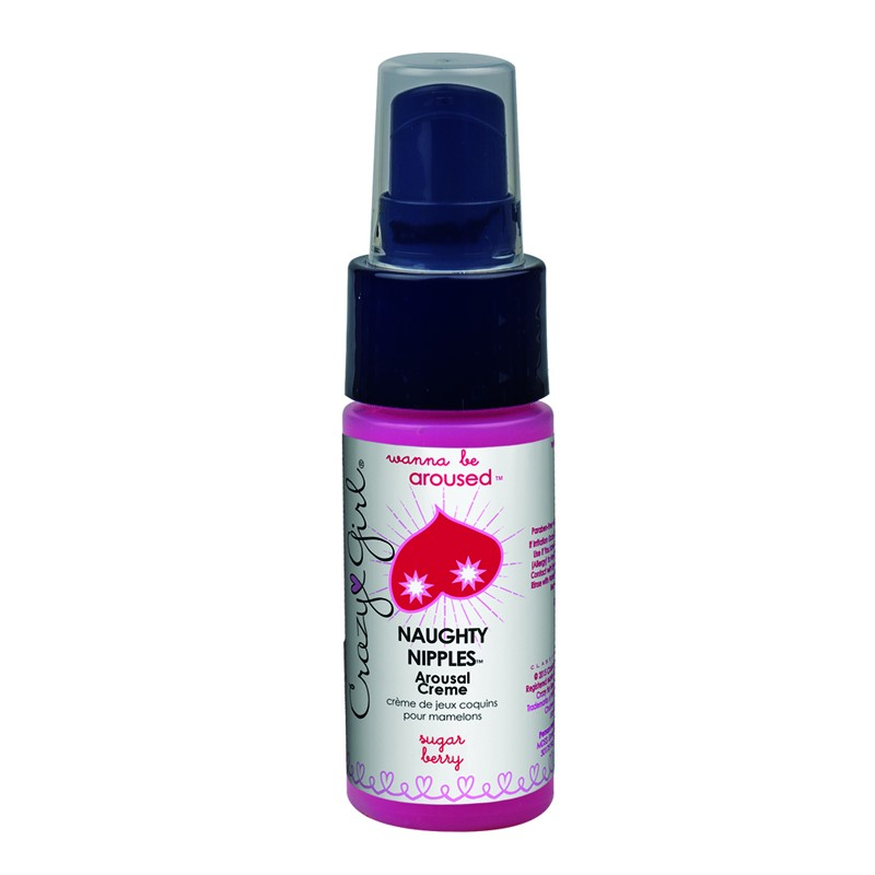 Crazy Girl Wanna Be Aroused, Naughty Nipples Arousal Créme, Sugar Berry, 1 Fl. Oz., Pump Bottle