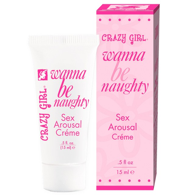 Crazy Girl Wanna Be Naughty, Sex Arousal Cream, .5 fl oz Tube, Boxed