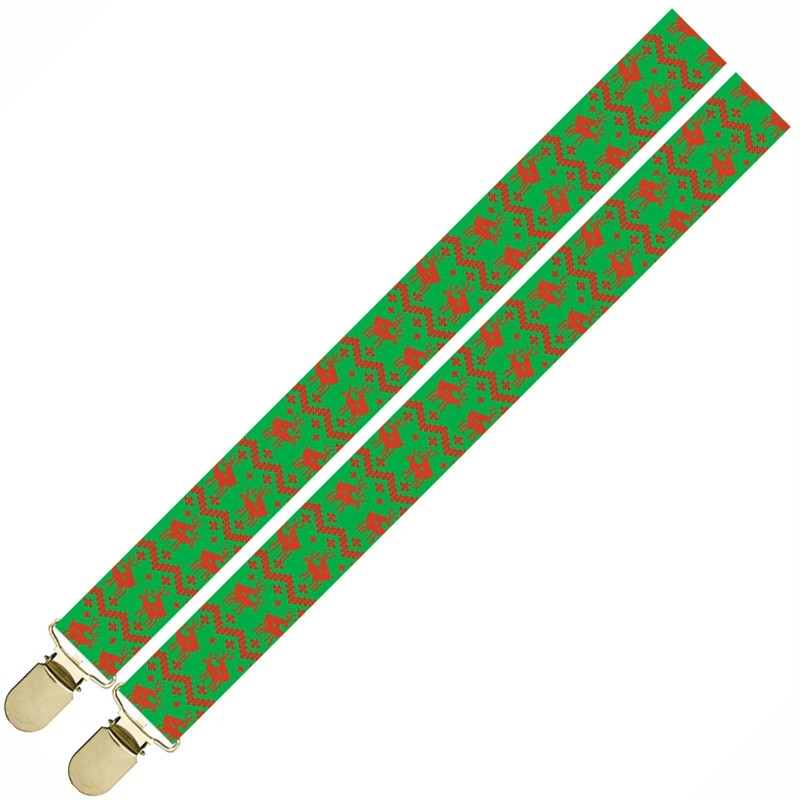 Deer Christmas Suspenders