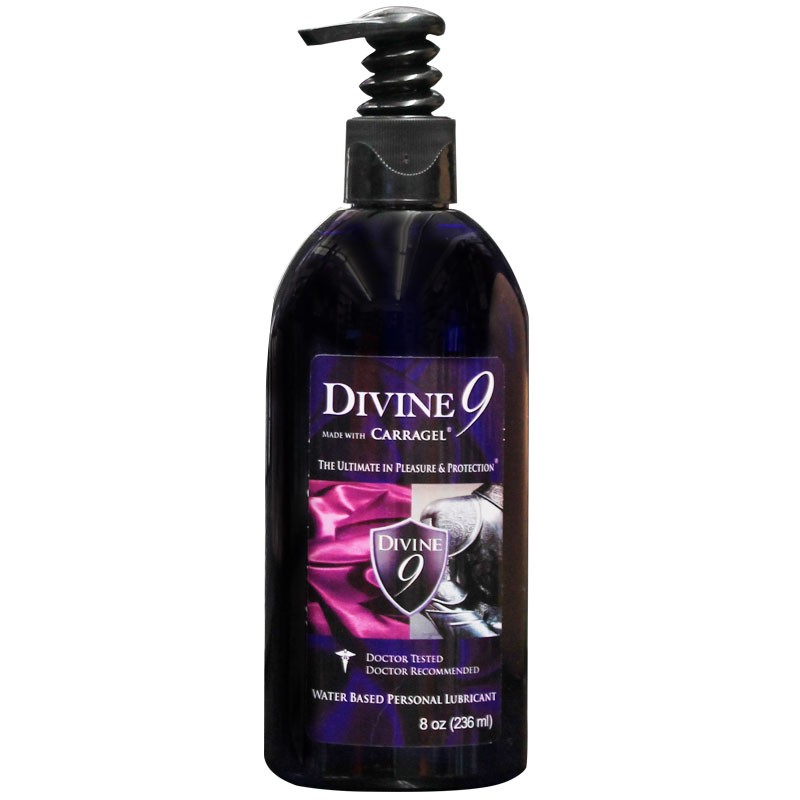 Divine 9 Waterbased Lubricant 8oz.