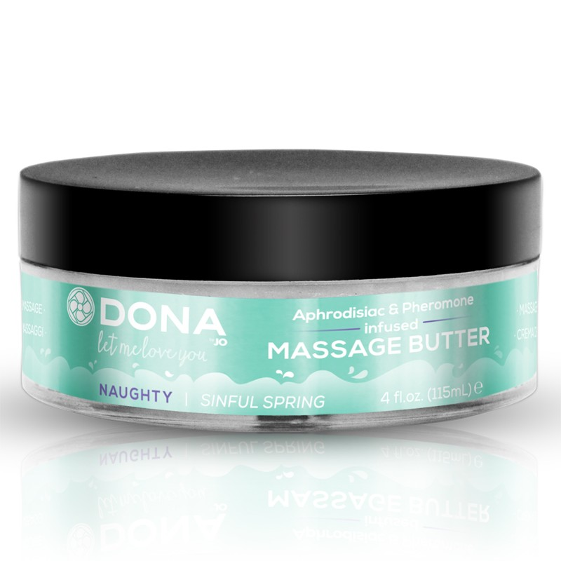 DONA Massage Butter Naughty Aroma: Sinful Spring 4oz