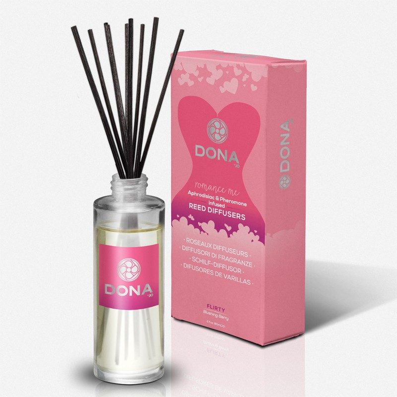 DONA Reed Diffusers Flirty Aroma: Blushing Berry 2oz