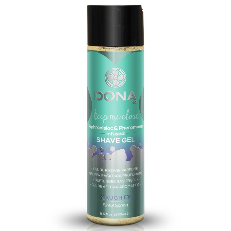 DONA Shave Gel Naughty Aroma: Sinful Spring 8oz