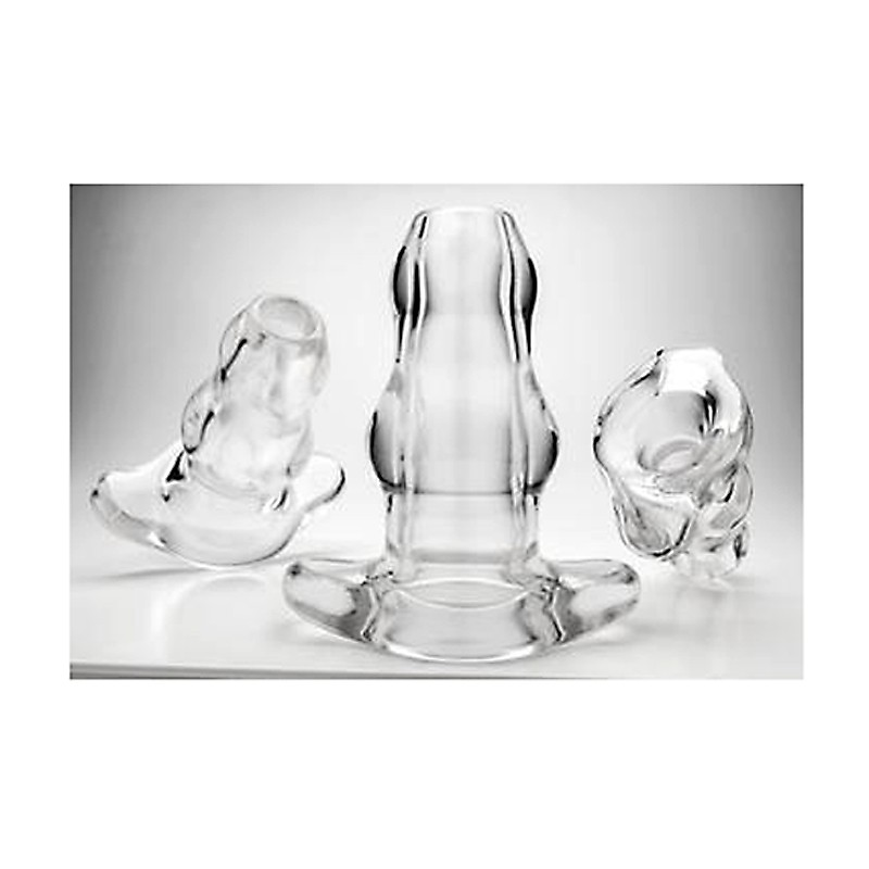 Double Tunnel Plug - Clear - Large