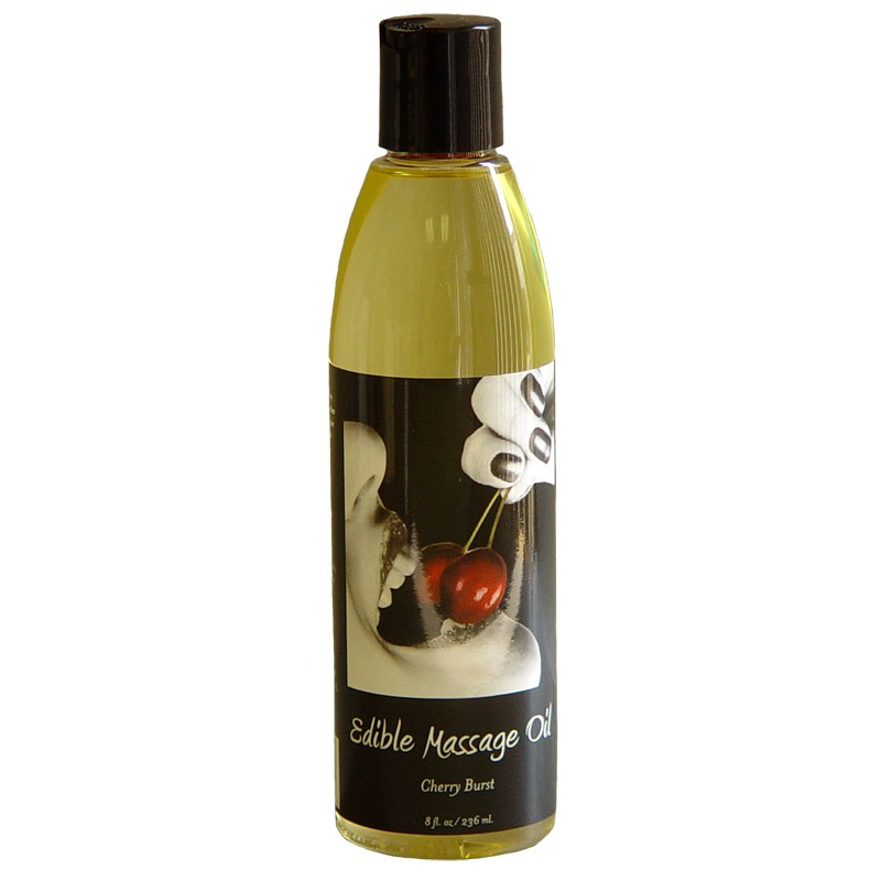 Earthly Body Edible Massage Oil Cherry Burst 8oz