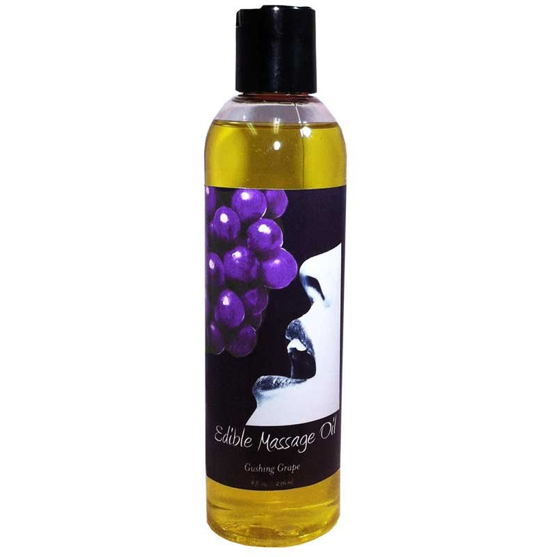 Earthly Body Edible Massage Oil Grape 8oz.