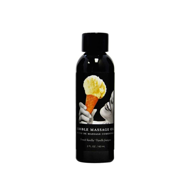 Earthly Body Edible Massage Oil Vanilla 2oz