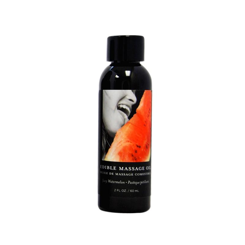 Earthly Body Edible Massage Oil Watermelon 2oz.