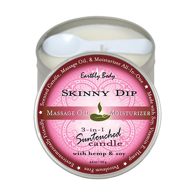 Earthly Body Massage Candle Skinny Dip 6.8oz