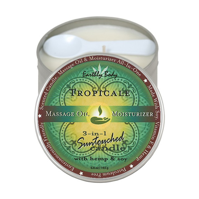 Earthly Body Massage Candle Tropicale 6.8oz
