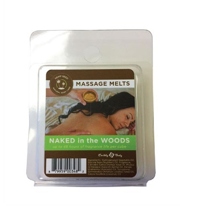Earthly Body Massage Melt Refill Naked in the Woods 1 oz