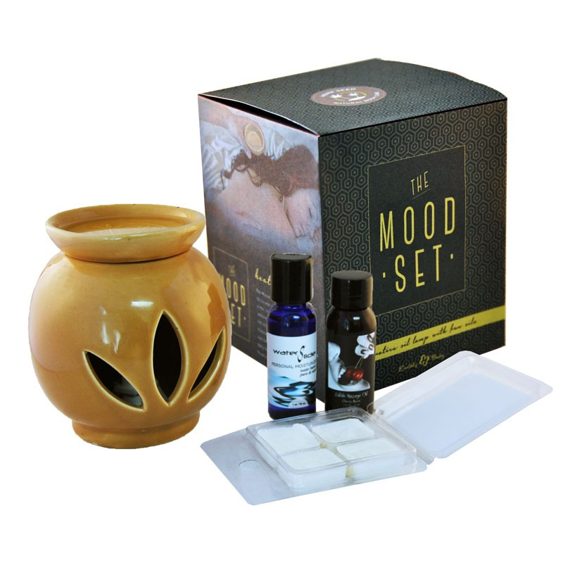EB The Mood: Massage Oil Warmer Set