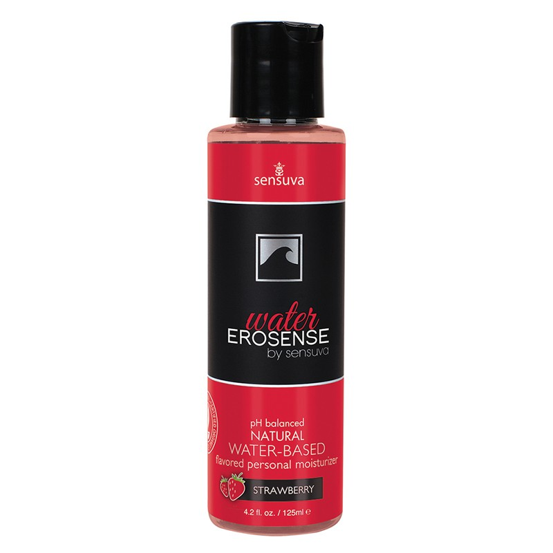 Erosense Water Strawberry Flavored Water-Based Lubricant 4.2 fl. oz Bottle