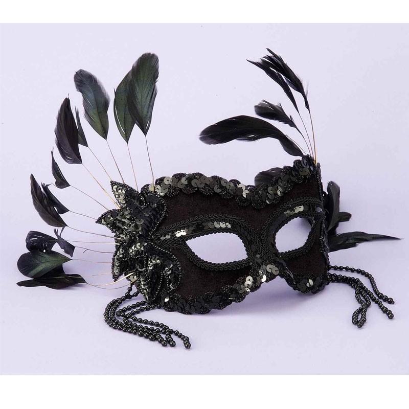 Fantasy Half Mask-Black