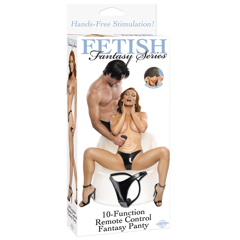 Fetish Fantasy 10 Function Remote Control Fantasy Panty Black