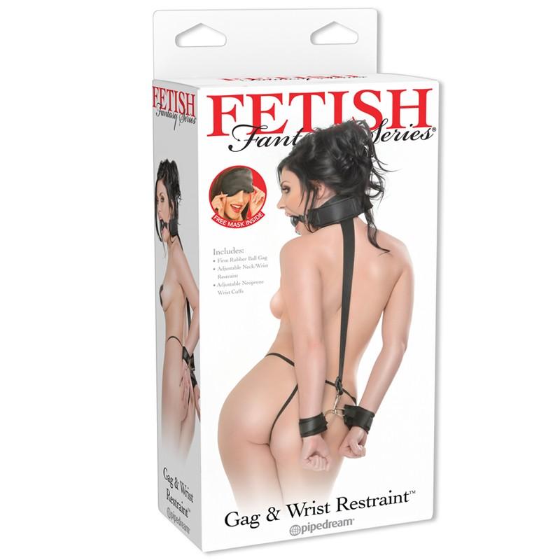 Fetish Fantasy Gag & Wrist Restraint