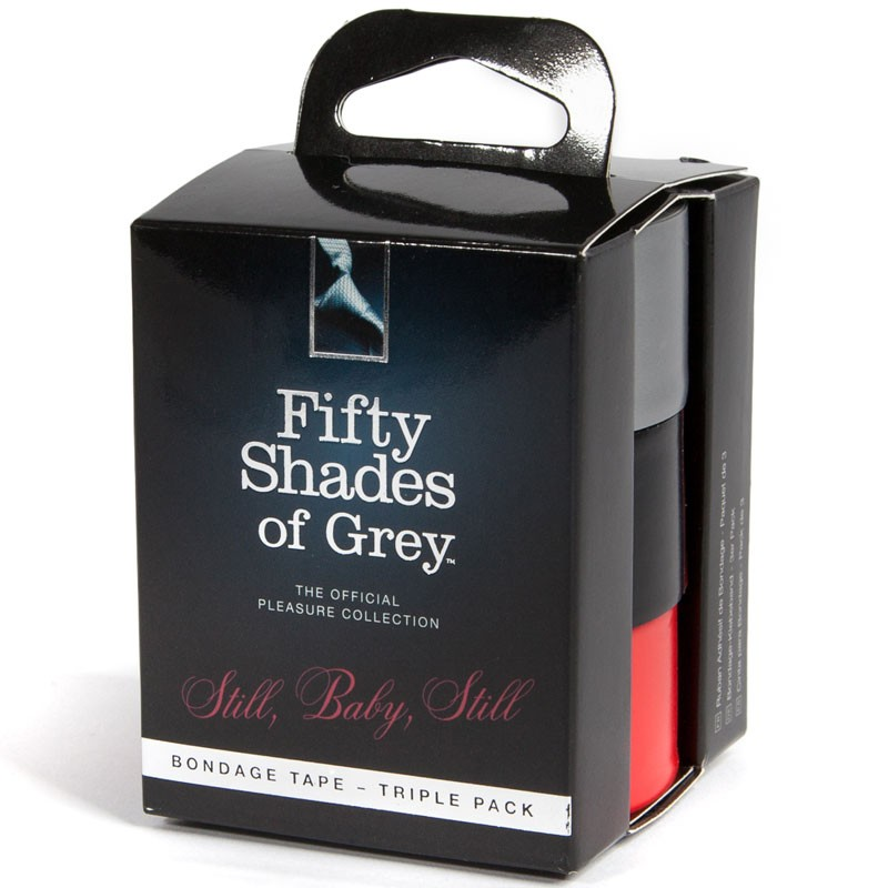 Fifty Shades of Grey Still Baby Still Bondage Tape Triple Pack (Black,Grey,Red 1 of ea)