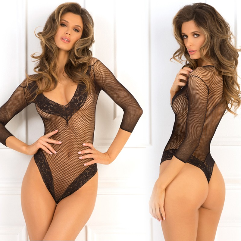 Fishnet Fantasy Bodysuit Black M/L