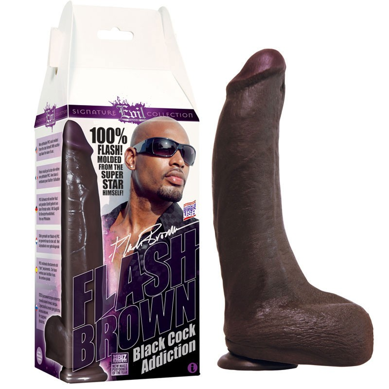 Flash Brown, Black Cock Addiction